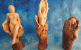 Naissance et transfomations -tryptique 600 euros-